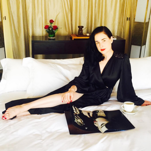 Dita Von Teese's Advice for Perfecting a Vibrant Red Lip